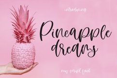 Web Font Pineapple Dreams Product Image 1