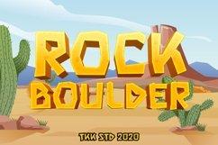 Rock Boulder - Gaming Font Product Image 1