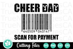 Cheer Dad Scan for Payment - A Sports SVG Cut File Product Image 2