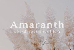 Amaranth | Hand Lettered Serif Font Product Image 1