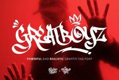 Greatboyz - Realistic Graffiti Tag Font Product Image 1