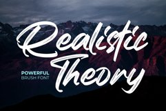 Realistic Theory - Powerful Brush Font Product Image 1