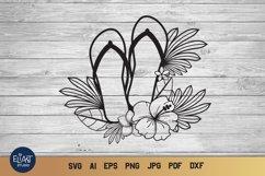 Flip Flop SVG | Summer SVG | Beach SVG Flip Flops Product Image 1