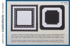 Stitched Nesting Shapes V3 Fancy Edges | sketch foil SVG Product Image 2