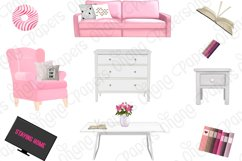STAY HOME CLIPART - Fashion Girl Planner Graphics Product Image 5