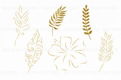 Tropical Watercolor Clipart Set Product Image 4