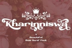 Kharinniswa - A Beautiful Bold Serif Font Product Image 1