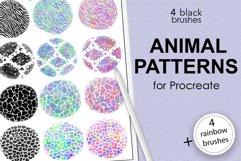 Animal pattern brushes and rainbow brushes for Procreate Product Image 1