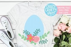 Floral Easter Egg SVG DXF EPS PNG Cut File Product Image 1