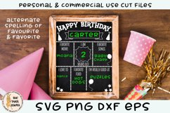 Birthday Chalk Board Sign SVG Product Image 1
