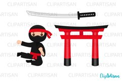 Ninja Clipart, Cute Ninjas Clip Art Product Image 2