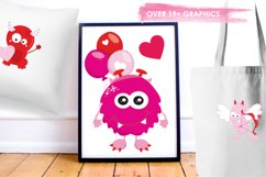 Valentine Monsters graphics and illustrations Product Image 5