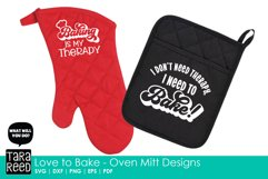Love to Bake - Oven Mitt Designs - Kitchen SVG & Cut Files Product Image 3