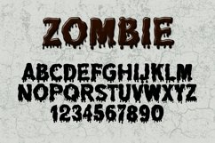 Dripping Zombie Halloween Font Product Image 5