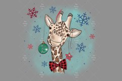Cute Giraffe Sublimation Design PNG, New Year Bundle Product Image 3