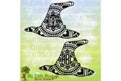 Witch Hat Mandala Monogram Base  Product Image 1