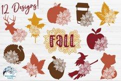 Floral Fall Bundle   Autumn Flower SVG Cut Files Product Image 2