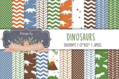 Dinosaur Digital paper, dinosaur background, jurastic Product Image 1