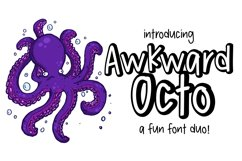 Awkward Octo a font Duo Product Image 1