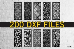 Laser cut DXF 200 vector Geometric for CNC Laser Product Image 1