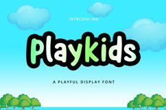 Playkids Display Font Product Image 1