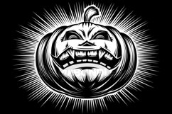 Vector Halloween Pumpkin Carved Eyes Mouth Icon Set Product Image 3