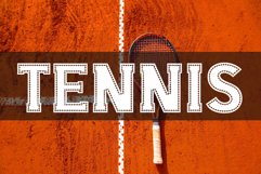 College Stitched Sport Font Product Image 3