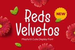 Reds Velvetos - Playful & Cute Font Product Image 1