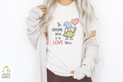 Girl gnome svg Valentine sublimation gnomes design Gnome png Product Image 4