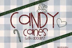 Candy Canes - A Font With Christmas Doodles! Product Image 1