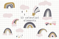Scandinavian Unicorn Clipart, SVG, PNG, DXF, EPS Product Image 3