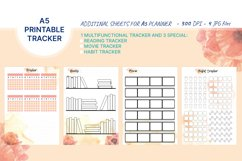 4 printable A5 trackers for habbits, books, movie, sport Product Image 1
