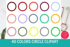 40 Colors Circle Clipart-Scallop Circle Product Image 1