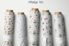 Christmas bull Watercolor Clipart Product Image 5