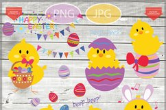 Easter chicks clip art - Easter clipart - Easter images Product Image 1
