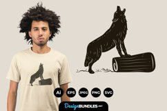 Wild Wolf for T-Shirt Design Product Image 1
