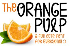 Orange Pulp : Sweet and Tasty Font Product Image 1