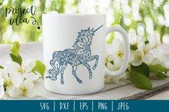 Unicorn Mandala Zentangle Bundle Set of 5 - SVG Product Image 4