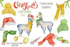 Christmas lama watercolor creator 2 Product Image 2
