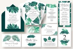 Tropical Leaves Invitation Suite Product Image 1