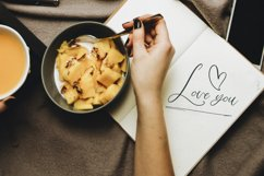 Love Mango. Script font with doodles Product Image 3
