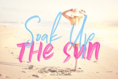 Soak Up The Sun Font Duo & SVG Product Image 1