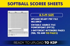 Softball Score Sheets Book | KDP Interior Template Editable Product Image 2