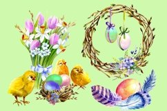 Easter Watercolor Clipart,Easter chick, Product Image 2