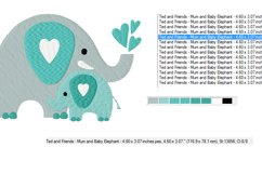 ELEPHANTS Machine Embroidery Design in 2 sizes Product Image 3