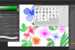 Flowers and leaves Photoshop Brushes Product Image 3