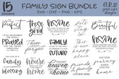 Family Sign Bundle - 15 Family Designs Product Image 1