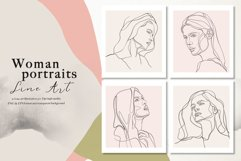 Line Art Woman Portraits Product Image 3