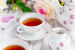 tea set with floral print Product Image 1