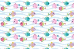 Girls Sea Animal Clipart and Digital Papers Set Product Image 6